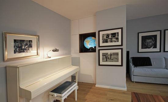 arbeitszimmer mit ruhebereich | innenarchitekt in münchen, Innenarchitektur ideen