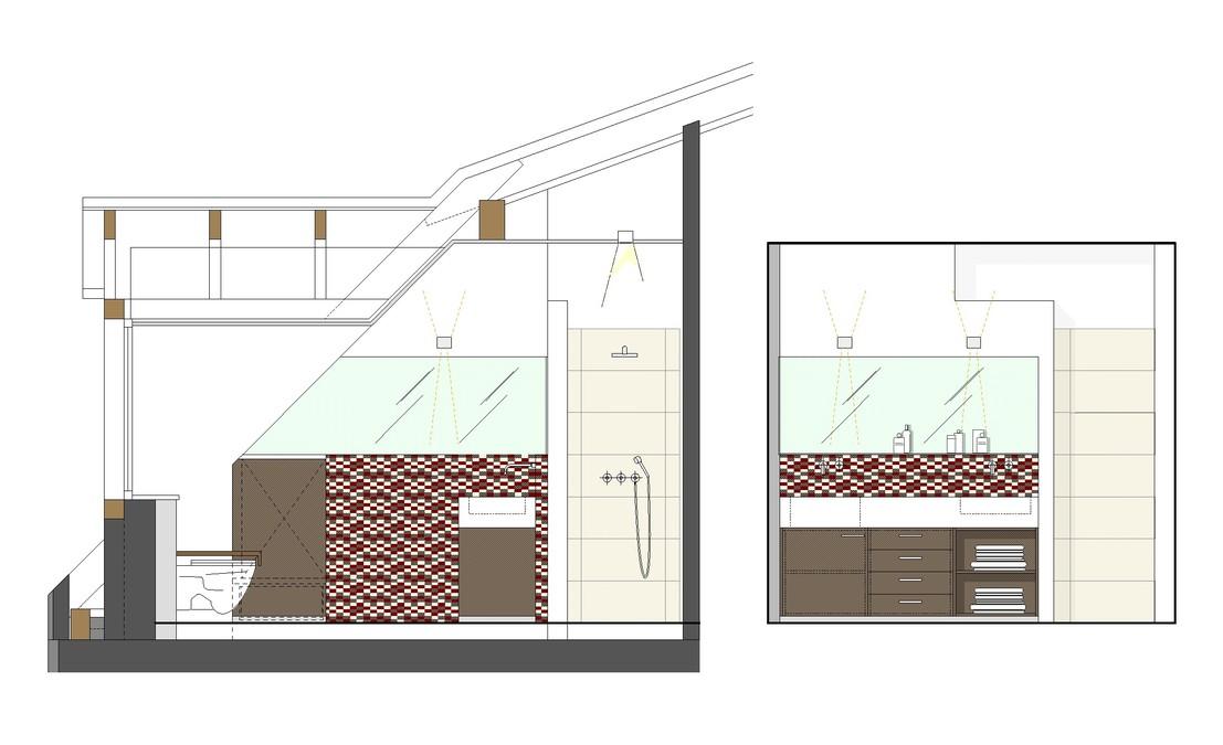g stebad mit waschk che innenarchitekt in m nchen. Black Bedroom Furniture Sets. Home Design Ideas