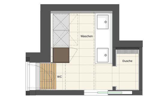 Gästebad mit Waschküche | Innenarchitekt in München ...