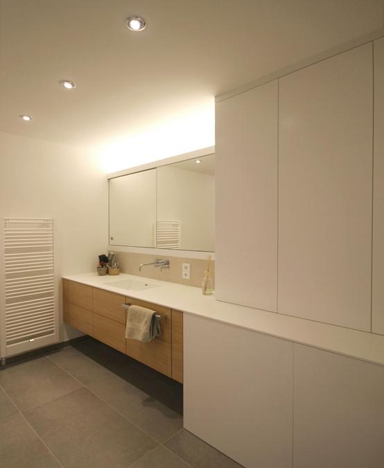 Badezimmer einer maisonettewohnung innenarchitekt in for Innenarchitektur badezimmer