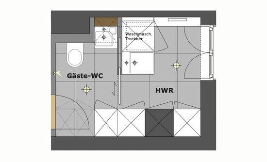 Gaste Wc Mit Hauswirtschaftsraum Innenarchitekt In Munchen