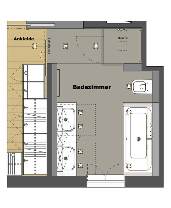 Badezimmer Eines Einfamilienhauses