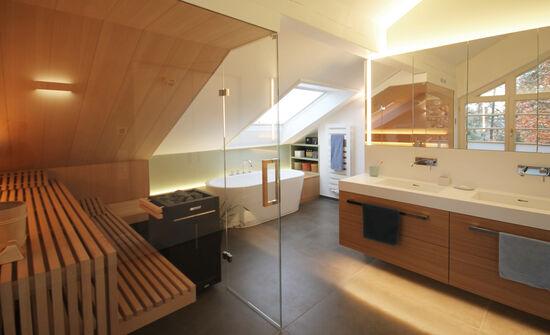 Wellnessbad mit Sauna   Innenarchitekt in München - Andreas ...
