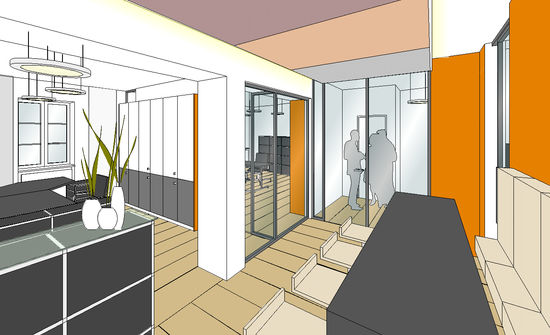 empfangsfoyer innenarchitekt in m nchen andreas ptatscheck. Black Bedroom Furniture Sets. Home Design Ideas