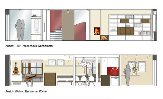 umbau einer doppelhaush lfte innenarchitekt in m nchen. Black Bedroom Furniture Sets. Home Design Ideas