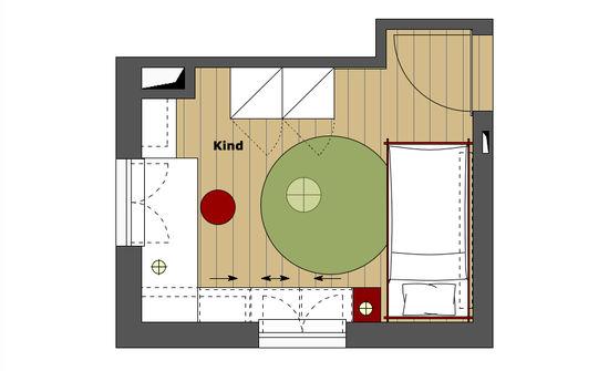 Kinderzimmer eines einfamilienhauses innenarchitekt in for Aufgaben innenarchitekt