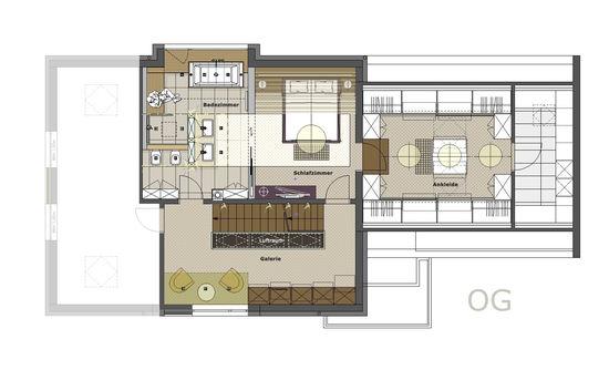 Schlafzimmer mit ankleidezimmer schlafzimmer mit for Was macht ein innenarchitekt