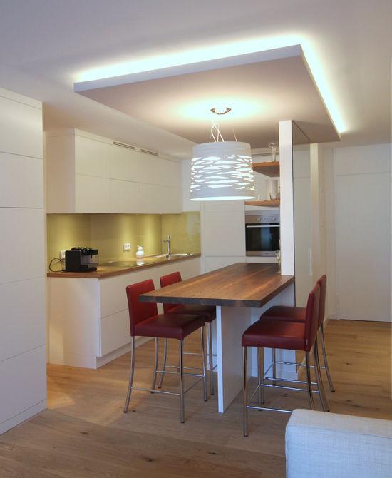 Offene Küche mit Essplatz | Innenarchitekt in München - Andreas ...