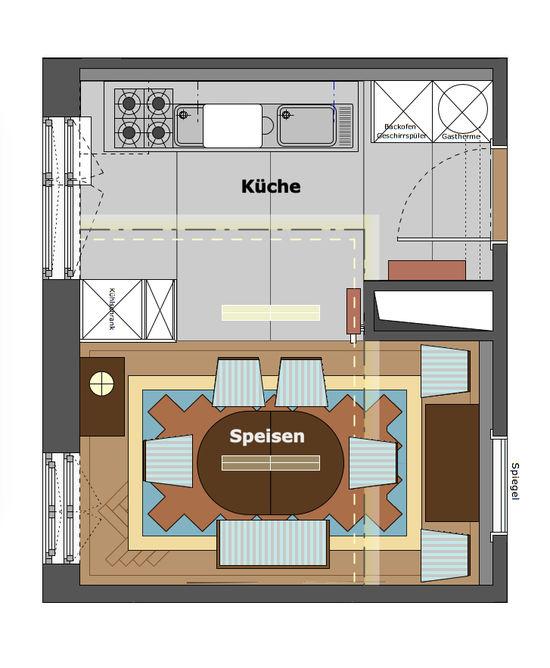 Moderne Küche Einer Altbauwohnung