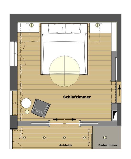 schlafzimmer mit ankleide. Black Bedroom Furniture Sets. Home Design Ideas