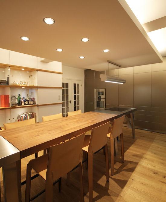 speisezimmer unter einem deckensegel innenarchitekt in m nchen andreas ptatscheck. Black Bedroom Furniture Sets. Home Design Ideas