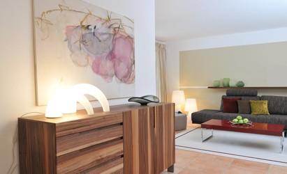 Wohnbereich in einem landhaus innenarchitekt in m nchen for Was ist ein innenarchitekt