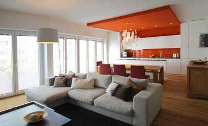 wohnbereich einer maisonetteswohnung innenarchitekt in m nchen andreas ptatscheck. Black Bedroom Furniture Sets. Home Design Ideas