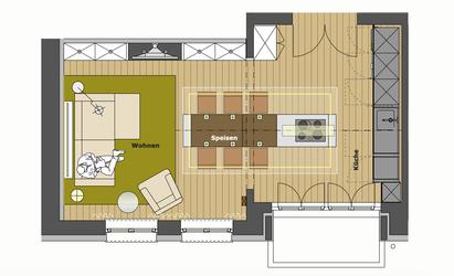 wohnlounge einer wohnk che innenarchitekt in m nchen andreas ptatscheck. Black Bedroom Furniture Sets. Home Design Ideas